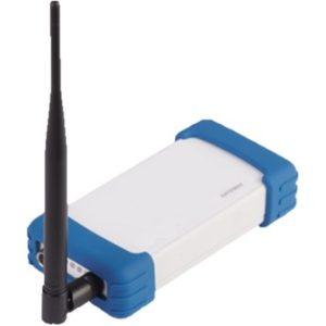 Gateway IoT industrielle, boitier sans fil avec antenne noir