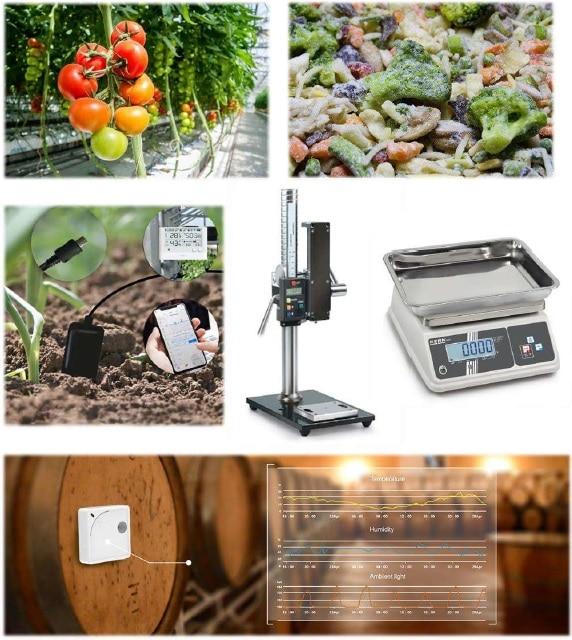 montage photo sur des applications en agroalimentaire, culture sous serre, chaîne du froid