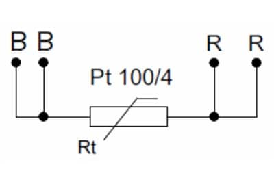 PT100 en configuration 4 fils