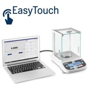 KERN EasyTouch logiciel connecte a une balance d'analyse